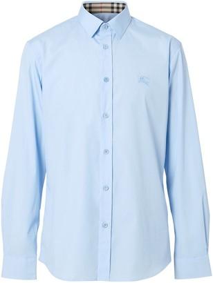 Burberry EKD-embroidered shirt