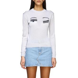 Chiara Ferragni Sweater With Lurex Flirting Embroidery