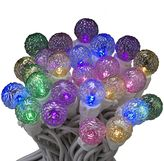 Kurt Adler LED Multi-Colored Faceted Christmas Light Set - Indoor & Outdoor