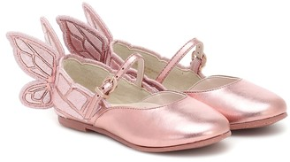 Sophia Webster Mini Chiara metallic leather ballet flats