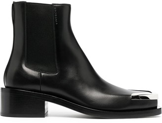 Givenchy Metallic Toe Cap Boots