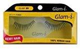 Glam-I 99 Full Strip Human Hair Eyelashes, Black, 0.4 Ounce