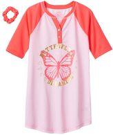 Girls 4-16 SO® Graphic Henley Dorm Nightgown