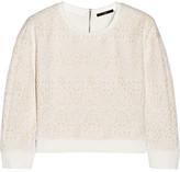 Tibi Cropped cloqué sweatshirt