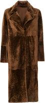 Drome mid-length coat - women - Lamb Skin/Rayon/Lamb Fur/PBT Elite - M