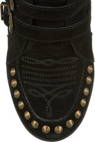 Ash Bobos studded suede wedge sneakers
