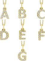 KC Designs 14K Yellow Gold Diamond Initial & Chain