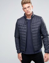 Threadbare Mongrel Collar Quilted Jacket