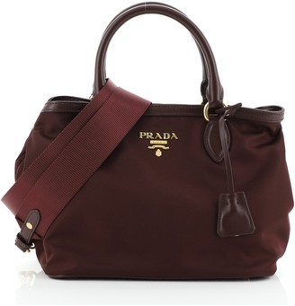 Prada Convertible Open Tote Tessuto Small
