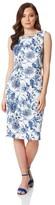 M&Co Roman Originals floral double layer scuba dress