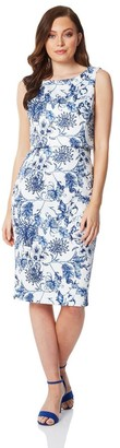 M&Co Roman Originals floral double layer scuba dress