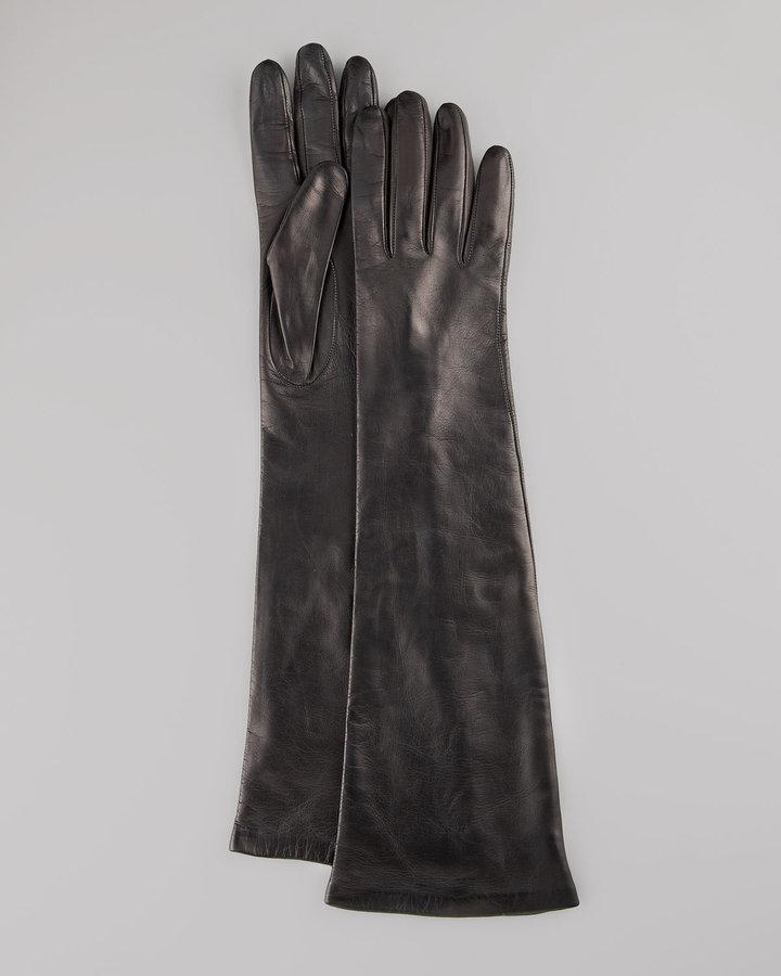 Portolano Elbow-Length Leather Gloves