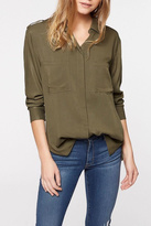 Sanctuary Olive Boyfriend Shirt