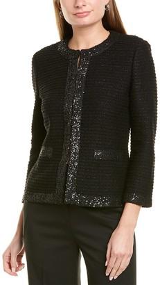St. John Glittering Wool-Blend Jacket