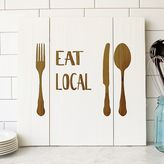 "Cathy's Concepts Cathys concepts Eat Local"" Rustic Wooden Wall Decor"