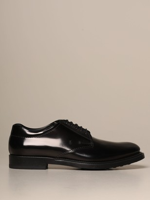 Tod's Derby In Brushed Leather With Rubber Sole