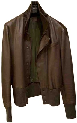 Bottega Veneta Khaki Leather Jackets