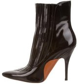 Alexander Wang Patent Leather Pointed-Toe Ankle Boots