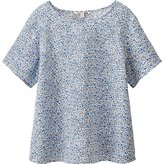 Uniqlo Women Premium Linen Short Sleeve T Blouse