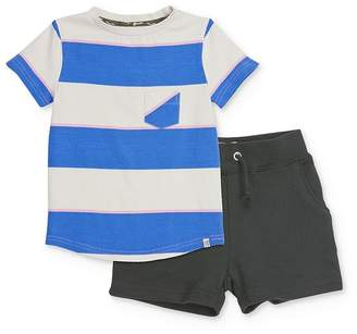Sovereign Code Boys' Striped Tee & Jogger Shorts Set - Baby