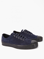 Comme Des Garcons Shirt X Spalwart Navy Suede Special Low V Sneak