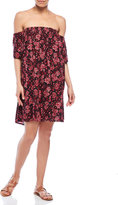 RD Style Floral Printed Off-The-Shoulder Shift Dress