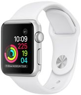 Apple Watch Series 1, 38mm Aluminum Case with White Sport Band