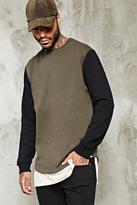 Forever 21 FOREVER 21+ Contrast-Sleeve Sweatshirt