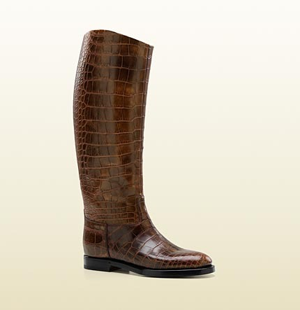 Gucci Men's '1921 Collection' Riding Boot With Crest Detail.