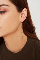 BCBGeneration Cross Fringe Hoop Earrings - Gold