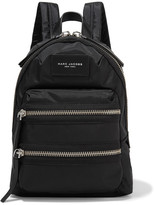 Marc Jacobs Biker Mini Leather-trimmed Shell Backpack