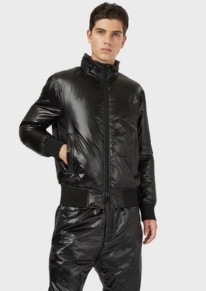 Emporio Armani R-Ea-Mix Down Jacket In Shiny Nylon