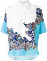 Etro contrast paisley print shirt