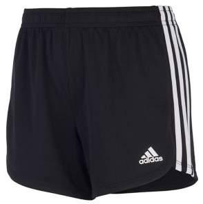 adidas Girl's Three-Striped Mesh Athletic Shorts