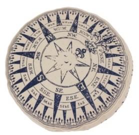 "Thro 16"" Compass Printed Kids Pillow"
