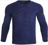 uxcell Allegra K Mens V Neck Pullover Solid Color Fall Leisure Sweater Heather Grey M