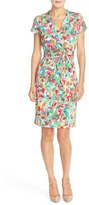 Ellen Tracy Print Jersey Sheath Dress