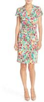 Ellen Tracy Women's Print Jersey Sheath Dress