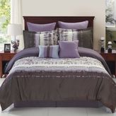 Hudson Reversible 6-Piece Twin Comforter Set in Purple/Grey