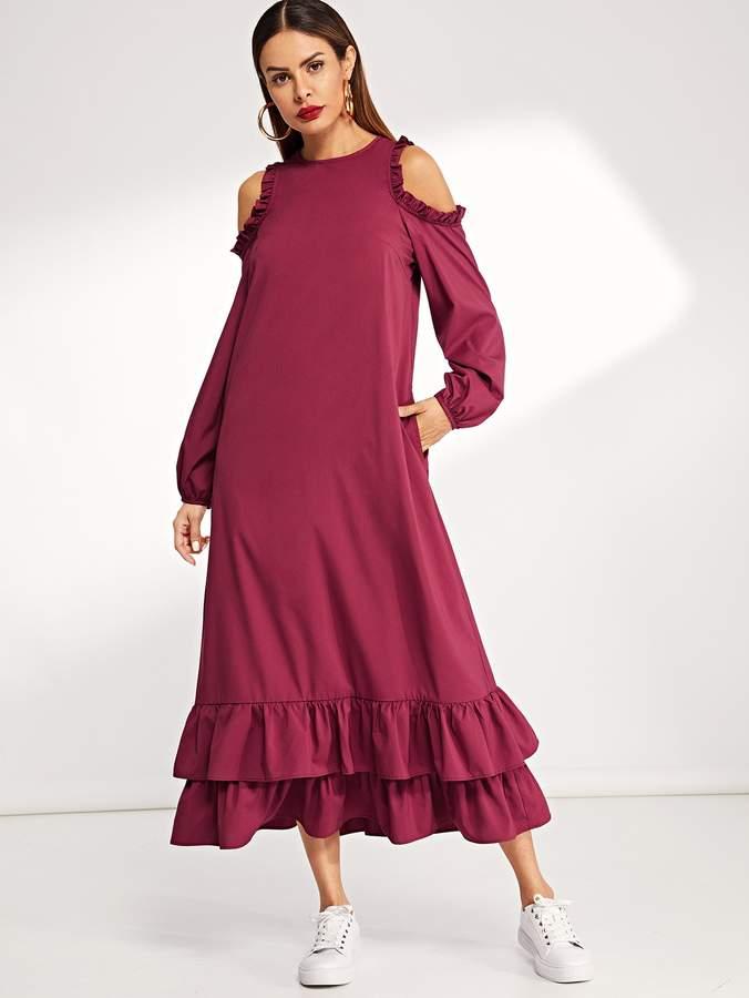 4e6b6bcc83 Shein Red Ruffled Dresses - ShopStyle