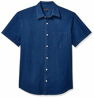 J.Crew Men's Slim-Fit Short Sleeve Indigo Ripstop Shirt