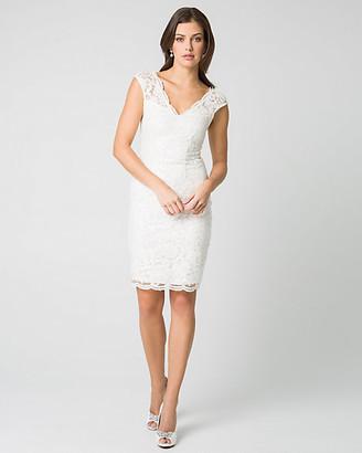 Le Château Lace & Sequin V-Neck Shift Dress