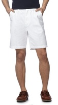 Maine New England Big And Tall White Chino Shorts