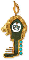 Coomi Antiquity Bronze Roman Lion Key Pendant with Diamonds