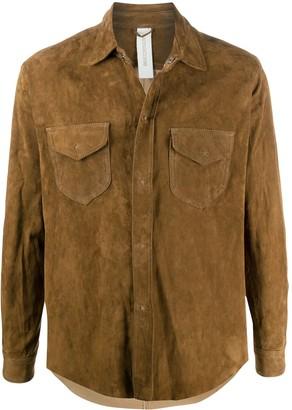 Giorgio Brato Long Sleeve Flap Pocket Shirt Jacket