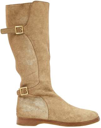 Jimmy Choo Gold Leather Boots