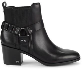 Sam Edelman Dalma Studded Harness Leather Chelsea Boots