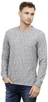 Kenneth Cole Side-Zip Spaced Dye Crewneck