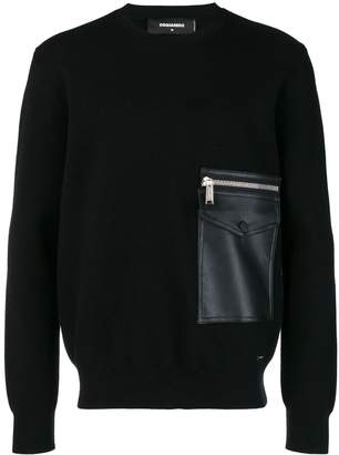 DSQUARED2 zip pocket sweater