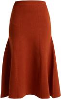Joseph A-line wool-blend midi skirt